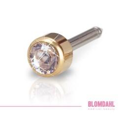 BLOMDAHL kolczyk przekłuciowy Bezel Crystal 4mm złoty