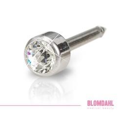 BLOMDAHL kolczyk przekłuciowy Bezel Crystal 4mm srebrny