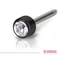 BLOMDAHL kolczyk przekłuciowy Bezel Crystal Long 4mm czarny