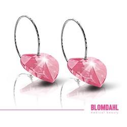 BLOMDAHL kolczyki hipoalergiczne Heart Rose (C) 10mm
