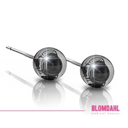BLOMDAHL kolczyki hipoalergiczne Ball (C) 5mm czarne
